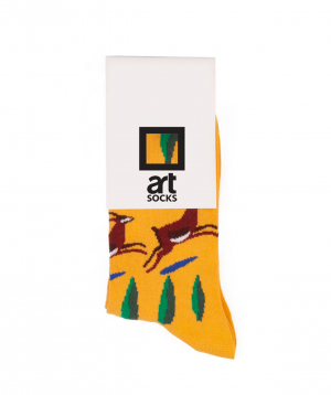 Socks  `Art socks` with `Gazelles` painting