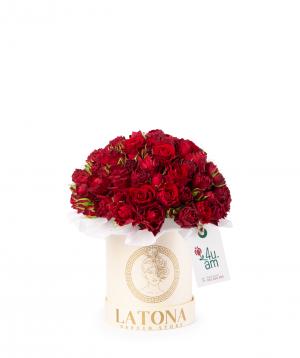 Composition `Eudora` with bush roses