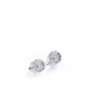 "Earrings ""Lazoor"" golden, with diamond stones №1"