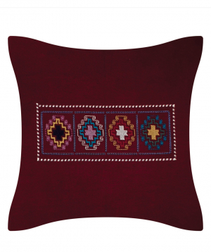 """Pillow """"Miskaryan heritage"""" embroidered with Armenian ornament №26"""