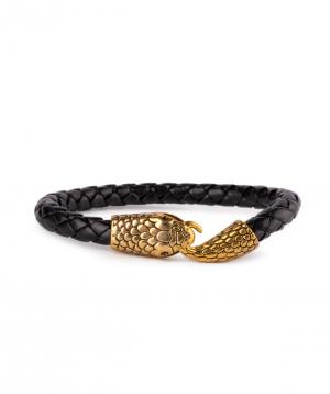 """Bracelet """"Ssangel Jewelry"""" men`s №6 leather"""