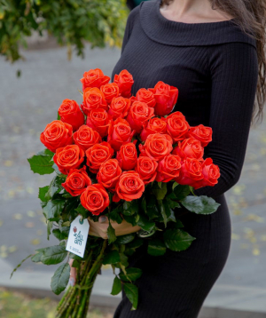 Վարդ «Oww» կորալ  29 հատ