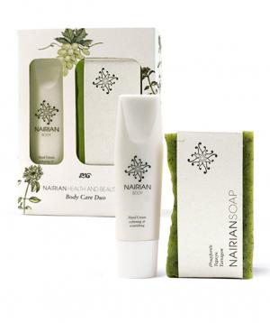 "Body Care Duo ""Nairian"" hand cream and tarragon soap"