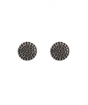 """Earrings """"DF Project""""pattern silver №5"""