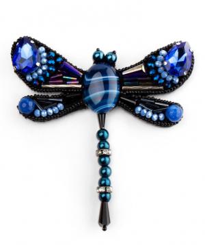 "Brooch ""LilmArt"" blue agate"