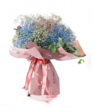 "Bouquet ""Rotterdam"" with gypsophilia"