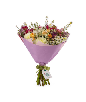 """Bouquet """"Belfast"""" with georginas and field flowers"""