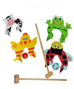 Game `Croquet` wooden