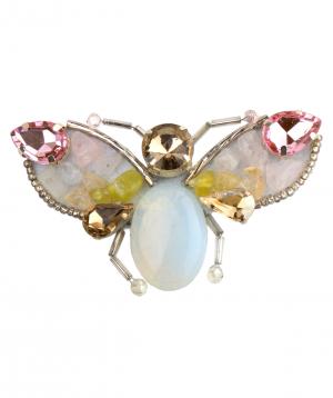 """Brooch """"LilmArt"""" handmade moonstones"""