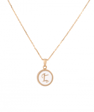 Pendant `Less is more` gold №35