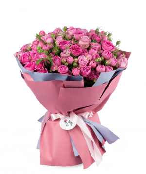 Bouquet `Aalborg` of roses and peony roses