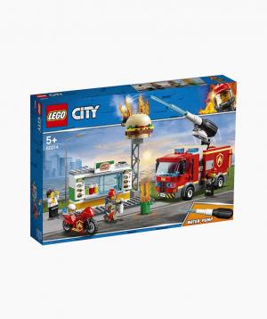Lego City Կառուցողական Խաղ «Հրդեհ Բուրգեր-Սրճարանում»