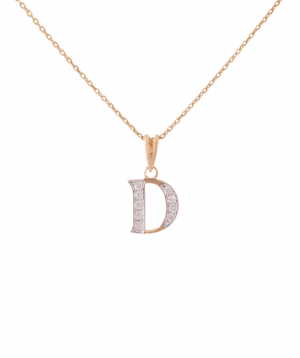 """Pendant """"Less is more"""" gold №18"""