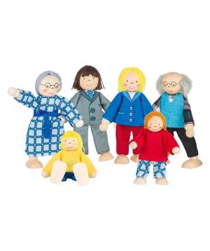 Խաղալիք «Goki Toys» ճկուն տիկնիկներ City Family