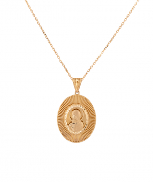 Pendant `Less is more` gold №2