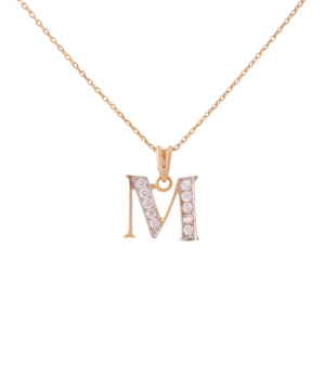 """Pendant """"Less is more"""" gold №15"""