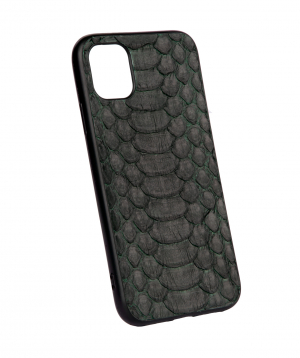 """Case """"Monarch"""" for phone, silicon, with a combination of genuine phyton leather №8"""