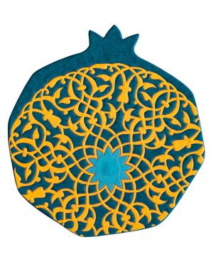 "Cheese plate ""ManeTiles"" decorative, ceramic №16"