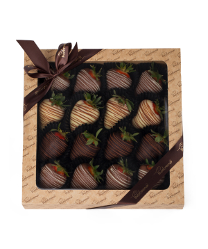 "Strawberry ""Theobroma"" in chocolate handmade big"
