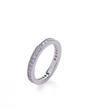 "Ring ""Lazoor"" golden, with diamond stones №4"