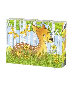 Խաղալիք «Goki Toys» փազլ անտառային կենդանիներ