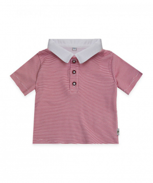 Polo shirt `Lalunz` with white and red