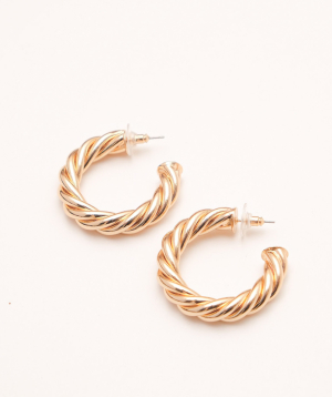 Earrings `Rougecoco` Twisted