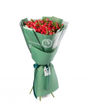 Ծաղկեփունջ «Դամոնա» փնջային վարդերով
