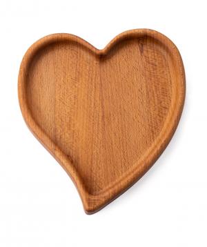 Էկո ափսե «WoodWide» սիրտ