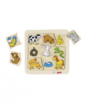 Toy `Goki Toys` pazzle who eats what