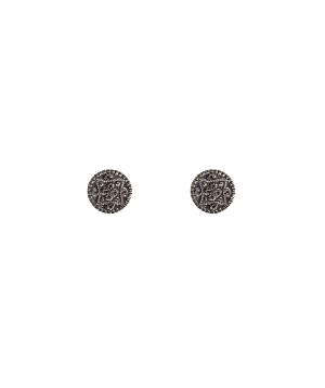 """Earrings """"DF Project""""pattern silver №4"""