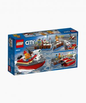 Lego City Կառուցողական Խաղ «Հրդեհ Նավահանգստում»