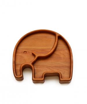 Eco plate `WoodWide` elephant