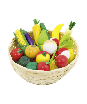 Խաղալիք «Goki Toys» միրգ և բանջարեղեն զամբյուղի մեջ