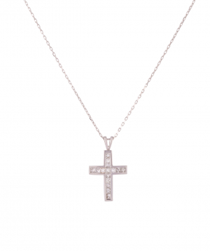 """Cross """"Less is more"""" gold №2"""