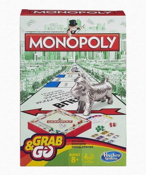 Hasbro Board Game GRAB AND GO Monopoly