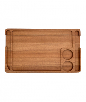 Eco-tray `WoodWide` for serving steak