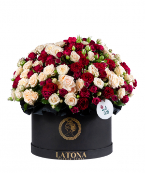 Composition `Cybele` with bush roses
