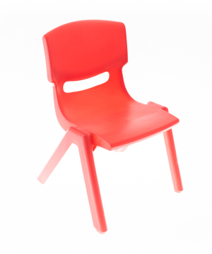 Chair plastic, red