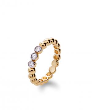 "Ring ""Lazoor"" golden, with diamond stones №19"