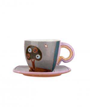 "Coffe mug ""Nuard Ceramics"" City. day-night №3"