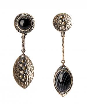 """Earrings """"Har Jewelry"""" silver leaves"""
