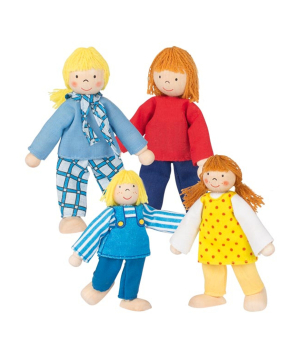 """Toy """"Goki Toys"""" flexible puppets Young Family"""