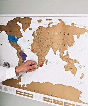 """World map """"Creative Gifts"""" with erasable surface №1"""