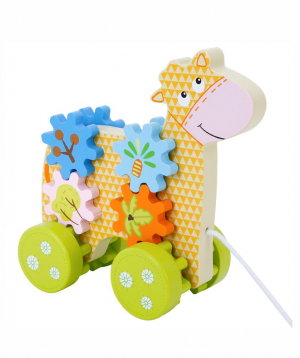 Toy calf, wooden
