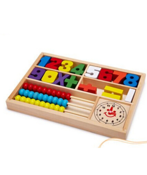 Collection of numbers, educational, wooden