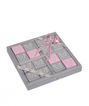 Chocolate candies `BUTTERFLY SILVER`