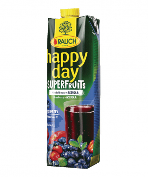"""Juice """"Happy Day"""" natural, blueberry, acerola 1l"""