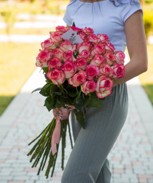 Rose «Jumilia» pink 29 pcs