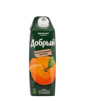 """Natural juice """"Good"""" Orange 1 liter"""